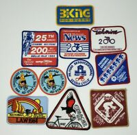 Large Lot of Vintage Cycling Road Race Patches Scwinn Wolverine Detroit Flint