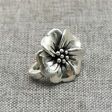 0.990 Fine Silver Flower Charm w/ Magnet Clasp for Necklace
