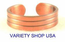 Antiqued Copper Designer Ring Adjustable Band 3028-A