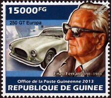 ENZO FERRARI 250 GT Europa Sports Car Stamp (2013 Guinea)