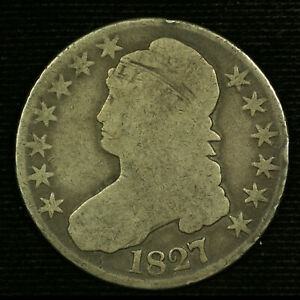 Capped Bust Half Dollar. 1827 Circulated. Lot # 9038-94-1027