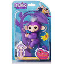 New | Genuine Purple Fingerlings Baby Pet Monkey by WowWee (Name; Mia)