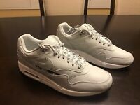 New Nike Air Max 1 Light Silver Sneaker Shoes Size US 10
