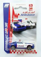 Majorette Dubai Ambulance Super Cars Ford Mustang Boss Blue diecast model car