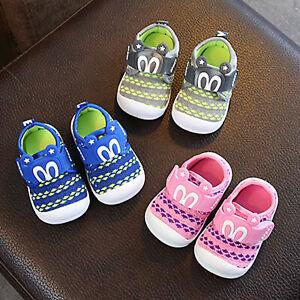 Toddler Children Kid Baby Boys GIrls Squeaky Single Shoes Sneaker Prewalker H