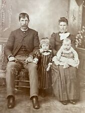 Cabinet Card Well Posed Family 2 Siblings By I.K.Lee Artist McIntosh Minnesota