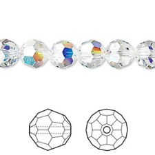 10 Pk Vintage Genuine Swarovski Crystal 8mm Aurore Boreale AB 5000 Round Beads
