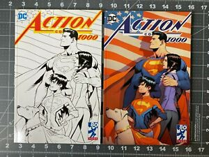DC Action Comics #1000 Pat Gleason Alejandro Sanchez Newbury Variants NM+