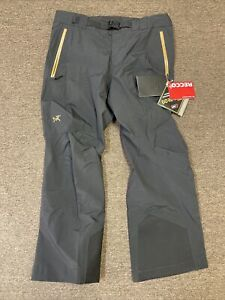 ARCTERYX Sabre LT Ski Snowboard Pants 24k Black Men's X-Large Regular 24014 NEW