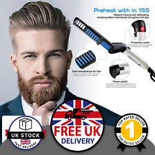 Men's Ceramic Beard & Hair Straightening Brush Beard Straighteners Fast Heating