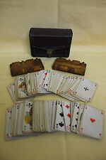 Turkish-Set Of 2 Wooden PlaΥIng Card Game+2 Cars Set+Pouch-1920-40