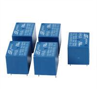 5 piezas 5V DC Mini Rele de potencia Rele de potencia de tipo de circuito i H7Z1