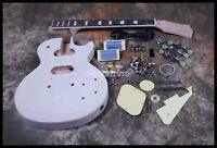 DIY Electric Guitar Kit ABR Bridge 1 Piece Neck&Body Alnico Pickups 4A Grade