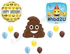 EMOJI EMOTICON POO Happy Birthday Party Balloons Decoration Supplies Turd Smiley