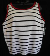 Mountain Lake Lady Tank Top Size L NWT MultiColor Stripe Cotton Blend Sleeveless
