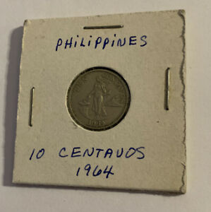 1964 Philippines 10 Centavos Rep. Nickel-Brass