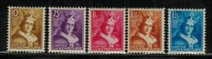 Luxembourg #B55-59 Complete Set 1933 MH
