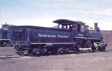 Northern Pacific Baldwin 4-4-0 steam locomotive railroad train postcard