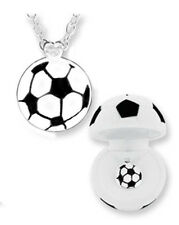 CHILD'S SOCCER BALL NECKLACE IN MATCHING BOX (BN045)