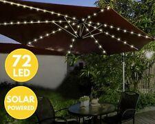 72 LED Solar Parasol Light – Garden Patio Table Umbrella Fairy Light – Outdoor