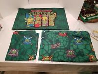 Nickelodeon Teenage Mutant Ninja Turtles 2x Flat Toddler Sheets and 1 Pillowcase