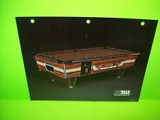 TGI Tournament Games Original Vintage Pool Table Arcade Game Flyer Eight Ball