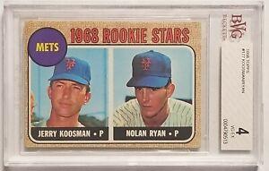 1968 Topps NOLAN RYAN #177 BVG BGS 4 VG-EX Beckett Graded Rookie RC Koosman Mets