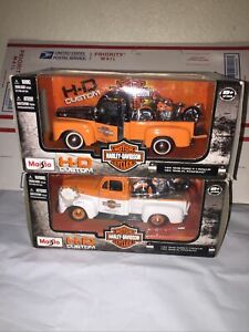 2011 Maisto Harley Davidson 1:24 1948 Ford F-1 Pickup 1948 FL Panhead Lot Of 2