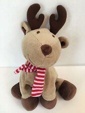 Carter's Reindeer Plush Rattle Red Stripe Scarf