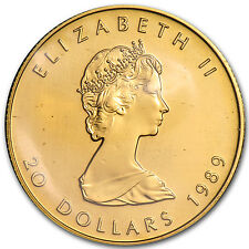 1989 Canada 1/2 oz Proof Gold Maple Leaf - SKU #57325