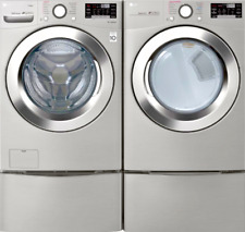 Lg Stackable Front Load Smart 4.5 cu. ft. Washer and 7.4 cu. ft. Gas Dryer