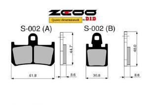 45S00201 PASTIGLIE FRENO ZCOO (S002 EX C) YAMAHA YZF 1000 R1 2007-2008 (ANTERIOR