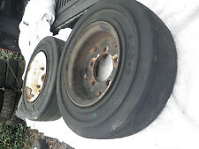 2 Fork Lift Tires with Rims ~ 5 Lug ~  4.00 x 8.00, 3.75