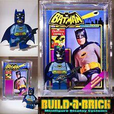 Batman 66 Batcave custom MINIFIGURE w/ Display Case & lego stand 294