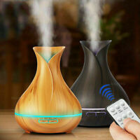 550ML Ultrasonic Humidifier Remote Control Essential Oil Diffuser LED Mist Maker
