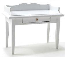 Miniature Dollhouse Wood Desk White 1:12 Scale New