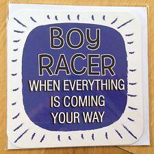 Boy Racer Coche tarjeta de saludos todos Ocasión Cumpleaños gracias * Nuevo * (128)