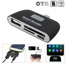 OTG Micro USB SD TF Card Reader USB2.0 Adapter Connector For Tablet Cellphone