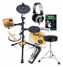 Elektronisch Schlagzeug Carlsbro ROCK50 E-Drum Set Kopfhörer Drumhocker Sticks