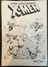 ORIGINAL XMEN UNUSED 1990's POGS PRODUCTION COMIC ART BY MIKE ZECK! SIGNED!