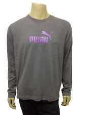 Crew Neck Long Sleeve PUMA T-Shirts for Men