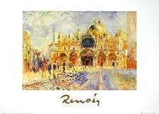 Pierre Auguste Renoir Piazza San Marco Venezia poster stampa d'arte immagine 50x70cm