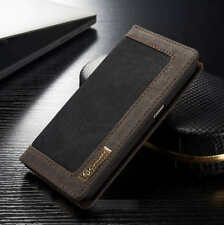 Jean Leather Flip Wallet Magnetic Case Cover For Sony And Huawei Models