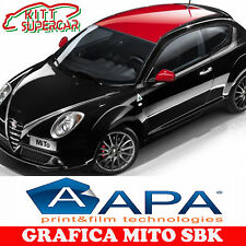 KIT ADESIVO Stickers ALFA MITO LIMITED EDITION SBK Auto no bolle apa COFANO