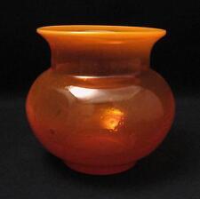 VINTAGE VIBRANT ORANGE ERIK HOGLUND (KOSTA) BODA SCANDINAVIAN ART GLASS VASE