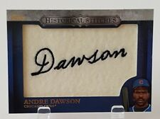 2012 TOPPS ANDRE DAWSON HISTORICAL STITCHES COMMEMORATIVE PATCH CUBS