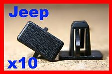 10 JEEP Chrysler rocker panel lining sill bump scuff strip fastener clips