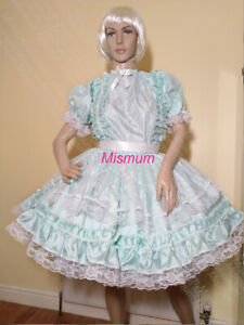 Sissy Mint Green Faux Satin and Lace Dress Size 42