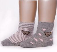 Steiff Mädchen 2 Paar Socke 50-56 Söckchen gr 13-14 Schuhgröße offwhite