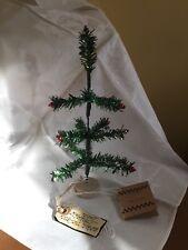 "PRIMITIVES BY KATHY CHRISTMAS TINSEL FEATHER TREE JANET BURZENSKI DESIGN 9"""